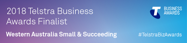 2018 Telstra Business Awards Finalist: Western Australia - Small & Succeeding